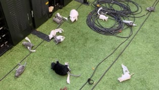 ​Thibaut Courtois was abused and pelted with toy rats by angry ​Atletico Madrid fans at the start of the Madrid derby in La Liga at the Wanda Metropolitano....