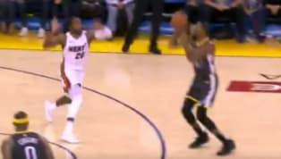 Kevin Durant picked an opportune time to make his first three-pointer of the evening on Sunday. As the Golden State Warriors struggled to hold off the Miami...
