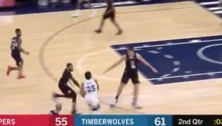 EL base de losMinnesota TimberwolvesDerrick Rose, nos transportó a sus temporadas con los Bulls en esta jugada. Con poco tiempo en el reloj del segundo...