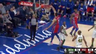 Partido sumamente parejo entreBoston CelticsyPhiladelphia 76ers, así que cada jugada se vive con una intensidad tremenda. Iniciando el tercer...