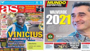 El diario As dedica su portada al jugador del Real Madrid , Vinícius Jr. El brasileño ha pasado de ser un jugador meritorio a estrella intocable para Solari....