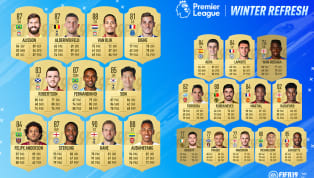 ents ​EA Sports have released their annual winter refresh for FIFA 19 Ultimate Team, which has seen an increase in the ratings of 23 Premier League players, as...