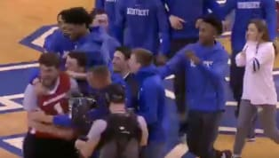 ​A Kentucky Wildcats fan is walking away from Rupp Arena with a lot more money than he came in with. The Wildcats invited a fan on the hardwood to take part...