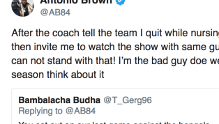 ​Antonio Brown has been venting on Twitter recently, answering fans questions about ​the situation in Pittsburgh between Brown and the ​Steelers. ...