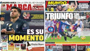 El diario As dedica su portada al jugador del Real Madrid , Marco Asensio, que todo hace indicar que será titular ante el Girona por el 'tocado' Benzema al...