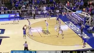 ​Seton Hall junior guard Myles Powell continued his clutch play Sunday with this step-back triple to put away Creighton. With just under a minute to go,...