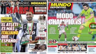 El diario As entrevista en exclusiva al defensor de la Juventus, Leonardo Bonucci, con motivo de la visita de la Juventus para jugar ante el Atlético de...