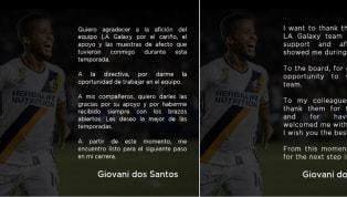 El mediocampista mexicano,Giovani Dos Santos, terminó su vínculo conLA Galaxy, después de haber jugado cuatro temporadas . Dos Santos no vivió la mejor...