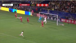 El delantero suecoZlatan Ibrahimovicdesaprovechó una clara oportunidad de gol en la victoria contra elChicago Fire, durante el primer partido de la...