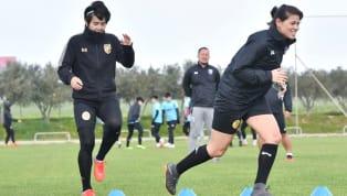  แอชลีย์ หรืออัญชลี ฮอลล์ ดาวเตะหญิงวัย 29 ปีลูกครึ่ง ไทย-อเมริกัน เข้าร่วมทดสอบฝีเท้ากับทีมฟุตบอลหญิงทีมชาติไทยระหว่างการแข่งขันฟุตบอล ไซปรัส คัพ 2019...