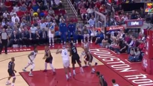 Not sure who's more at fault here: Steph Curry or DeMarcus Cousins? In a HUGE showdown between the Rockets and Warriors, Boogie was driving the lane and...