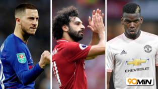 Premier League hiện tại được coi là giải đấu hấp dẫn nhất thế giới, đây là giải đấu đang sở hữu rất nhiều ngôi sao nổi tiếng của bóng đá thế giới. Dưới đây là...