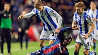  📋 ¡A volver a la senda de la victoria! Nuestro once. AUPA REAL!!!#RealSociedadLevante pic.twitter.com/HnDPw8kqjW — Real Sociedad Fútbol (@RealSociedad) 15...