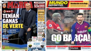 El diario As recoge en su portada las declaraciones de Zidane en la rueda de prensa previa al encuentro frente al Celta de Vigo en las que ha querido hacer...
