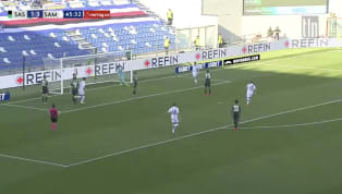  30 seconds into the second half Dennis Praet volleys a beauty into the net to give Sampdoria a 4-1 lead at Mapei Stadium!!! #tlnsoccer #SassuoloSampdoria...