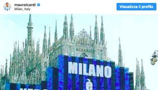 """""""Milano è solo nerazzurra"""". Mauro Icardi torna a colorare il proprio profilo Instagram di nerazzurro. La pace è vicina? L'attaccante argentino esulta per la..."""