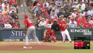 The St. Louis Cardinals have been theworst offense among all MLB teams in Spring Training, but this big fly might break the seal and get them going.Paul...