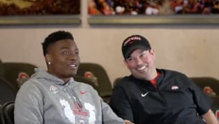 Dwayne Haskins is projected to be one of the top, if not the top quarterback prospect in this year's NFL Draft. But that isn't stopping him from sitting down...