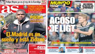 El diario As recoge en su portada las declaraciones de Paul Pogba, que se ha dejado querer por el Real Madrid . Y es que el centrocampista del United ha dicho...
