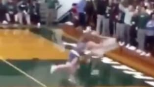 There comes a time when you want to save your team the humiliation of allowing a dunk in a high schoolbasketballgame, but then there is this.  WHAT WAS...