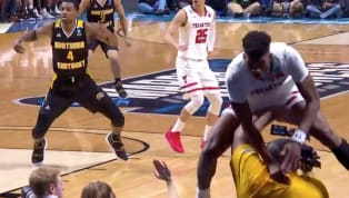Yikes...Jarrett Culver, the 20 year old player for Texas Tech, flew into the crowd during their NCAA Tournament game today against Northern Kentucky,...