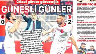 A Milli Takımımız'ın Arnavutluk karşısında elde ettiği 2-0'lık galibiyet günün haberlerinde ağırlıklı olarak yer buldu. Kulüplerimizden haberlerin de yer...