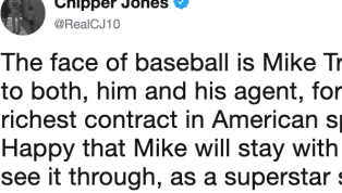 Atlanta Braves legendChipper Joneswants absolutely nothing to do with your claims that Bryce Harper is the face of baseball. The Hall of Famer took to...