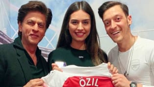 ​Arsenal star Mesut Ozil once again showcased his love for India, especially Bollywood yesterday by meeting with superstar Shah Rukh Khan, who was at the...
