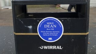 Paddy Power have unveiled a heritage plaque in honour of Mike Dean handing out his 100th Premier Leaguered card at the expense of Ashley Young on Tuesday...