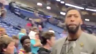 Somebody's ready to get home for the summer. It's been a frustrating year (entire tenure?) forAnthony Davis in New Orleans, and his temper appears to have...