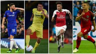 Pierre-Emerick Aubameyang (Arsenal), Olivier Giroud (Chelsea), Luka Jovic (Franckfort)et Carlos Bacca (Villarreal) sont sur le pont ce jeudi, chacun avec...