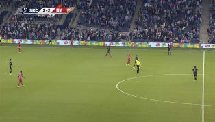 ​Spoiler alert: this kind of insane behavior gets you a red card! In the dying moments of tonight's New York Red Bulls-Sporting Kansas City ​MLS match at...