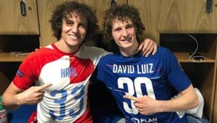 ​After ​Chelsea claimed a ​close 4-3 win over Slavia Prague in the Europa League quarter-final, the eerily similar looking David Luiz and Alex Kral exchanged...