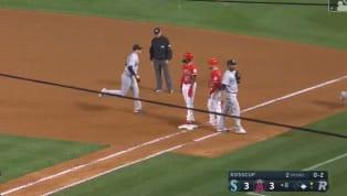 Justin Bourno cumplió con una de las cosas básicas del béisbol y su error le costó dos outs a su equipo, los Angelinos de Los Angeles, y que le cortaran un...