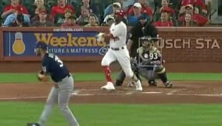 With the Cardinals already up 1-0 against the Brewers in Monday night's game,Dexter Fowlerunleashed a two-run bomb with a runner on first to extend the...