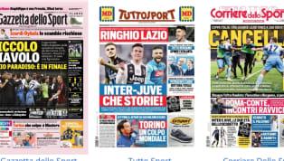 """""""Piccolo Diavolo. Lazio in paradiso: è in finale"""". Questo il titolo principale proposto sulla prima pagine de LaGazzetta dello Sport, che apre con il..."""