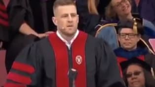 Need to be inspired, Class of 2019? Well, leave that to legendaryDE JJ Watt. Even if you're not a Badger, we don't blame you for taking his commencement...