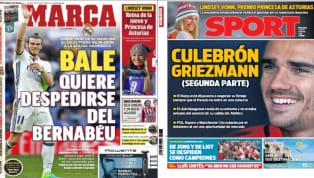 El diario As revela en su portada el efecto dominó que provocaría el fichaje de Griezmann por el PSG. Y es que la llegada del francés podría suponer que se...