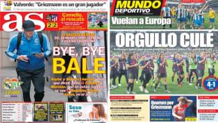 El diario As recoge en su portada el partido que disputará el Real Madrid y que será la despedida de Gareth Bale, que abandonará este verano el club. Además,...