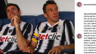 Alessandro Del Piero dedica un post su Instagram ad Andrea Barzagli. L'ex numero 10 della Juventus ha condiviso momento indimenticabili con il difensore...