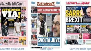 La prima pagina de La Gazzetta dello Sport è dedicata alla strategie di mercato diJuventuseInter,che continuano a lavorare per portare in Italia...