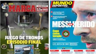 El diario As lleva hasta su portada la final de la Copa del Rey entre el FC Barcelona y el Valencia . Los de Valverde buscan ganar el título para obtener el...