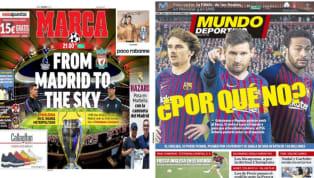 El diario As recoge en su portada la final de la Champions League que tendrá lugar hoy en el Wanda Metropolitano y que enfrentará a Tottenham y Liverpool. El...