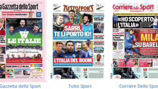 Tanto spazio alla Nazionale nelle prime pagine dei principali quotidiani sportivi nazionali in edicola oggi, martedì 11 giugno: dalla semifinale degli azzurri...