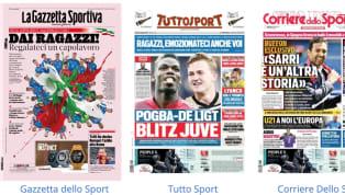 Tanti temi trattati nella rassegna stampa dedicata alle prime pagine dei giornali sportivi di oggi, domenica 16 giugno 2019. Parte l'Europeo Under 21 con...