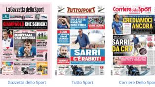 Tanta Italia nelle prime pagine dell'edizione odierna dei principali quotidiani sportivi nazionali in edicola oggi, giovedì 20 giugno 2019. L'Under 21 di Gigi...