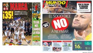 """SuperDeporte coloca hoy al jugador del Espanyol Borja Iglesias en portada y titula """"De Maxi al Panda"""". El equipo 'Che' busca alternativa la delantero uruguayo..."""