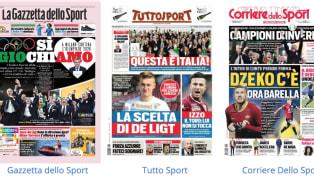 La Gazzetta dello Sport in edicola oggi dedica la prima pagina al successo di Milano-Cortina, vittoriosa a Losanna per l'assegnazione delle Olimpiadi...
