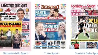A prendersi le prime pagine delle edizioni odierne deLa Gazzetta dello Sport e di Tuttosport è la questioneIcardi,con il presunto incontro ad Ibizia tra...