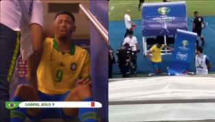 Gabriel Jesus đã tấn công màn hình VAR suýt nữa thì ngã vỡ trước khi vào đường hầm và khóc như mưa vì chiếc thẻ đỏ ở phút 75 trận chung kết Copa America giữa...